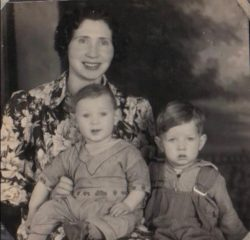 Louise with sons David & Donnie (1937)