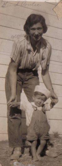 Louise at 27 /w son Donnie (1936)