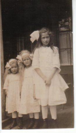 Alice Louise at 9 years, w/ cousins Waneta & Winona Ackerman.